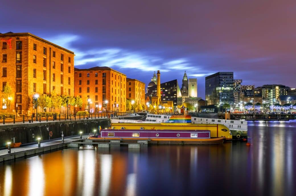 Albert Dock im Hafenviertel von Liverpool