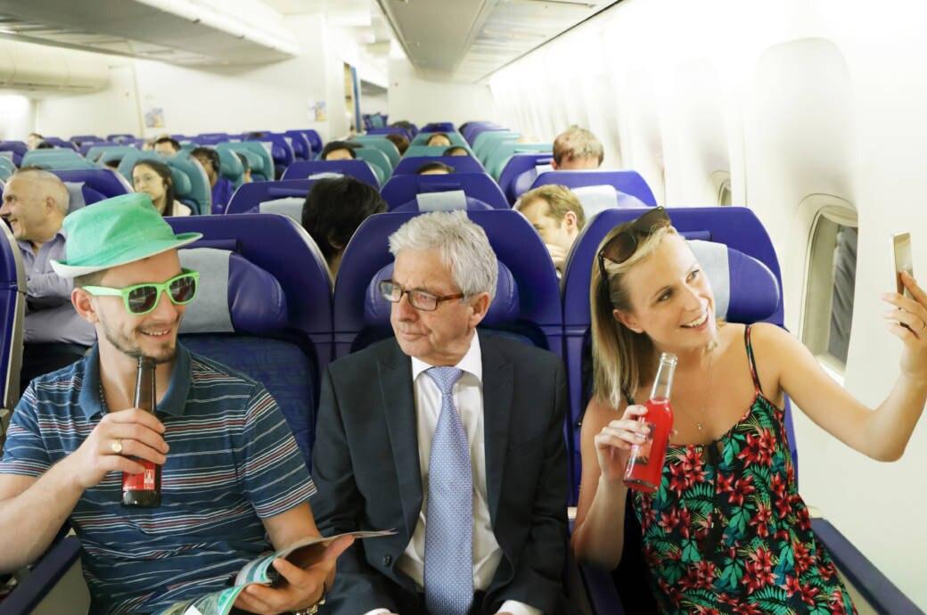Passagiere, Flugzeug, Flieger