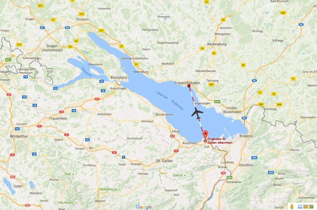 Das Wurde Aus Der Flugstrecke Altenrhein Friedrichshafen