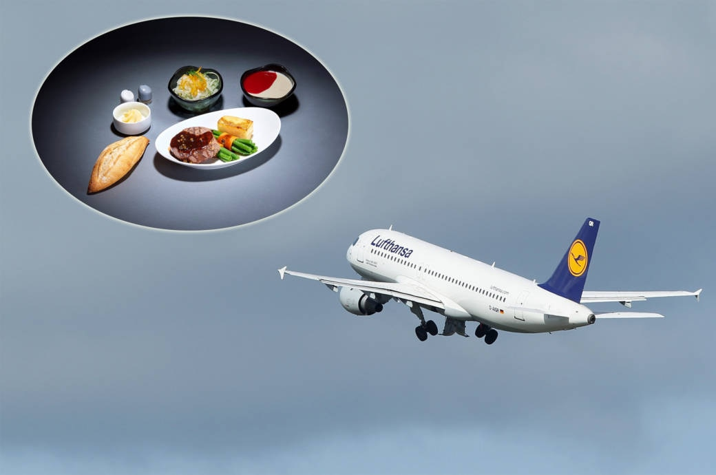 Lufthansa À-la-Carte-Menüs