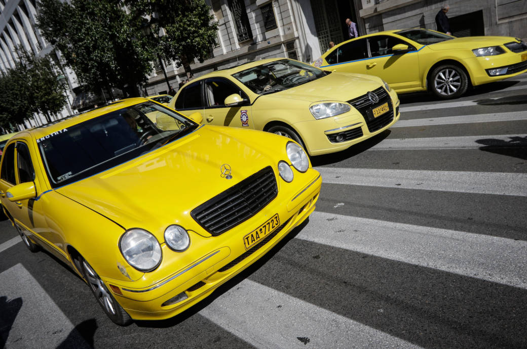 Taxifahrer in Athen