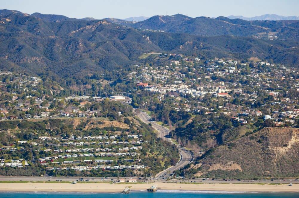 Die Villen der Reichen in Pacific Palisades