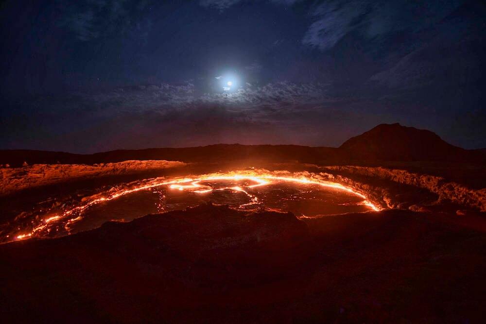 Lavasee im Vulkan Erta Ale