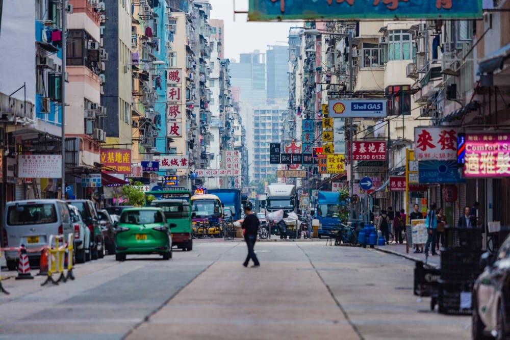 Shoppingmeile in Hongkong