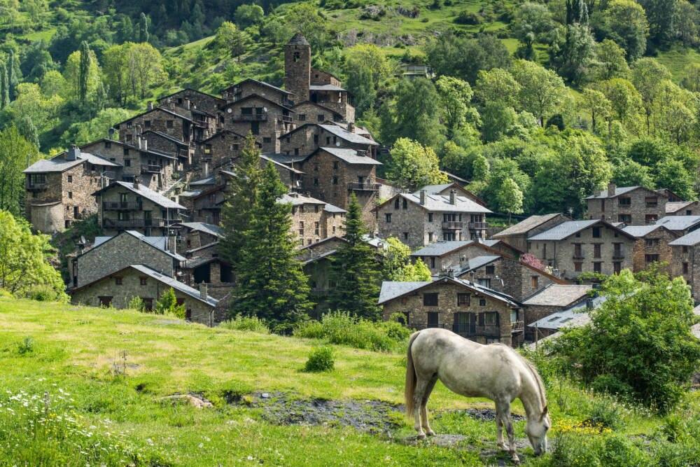 Ein klassisches Dorf in Andorra