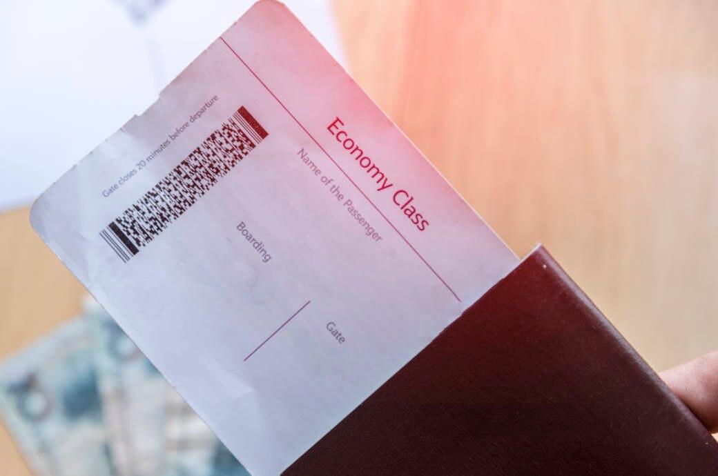 Bordticket und Reisepass