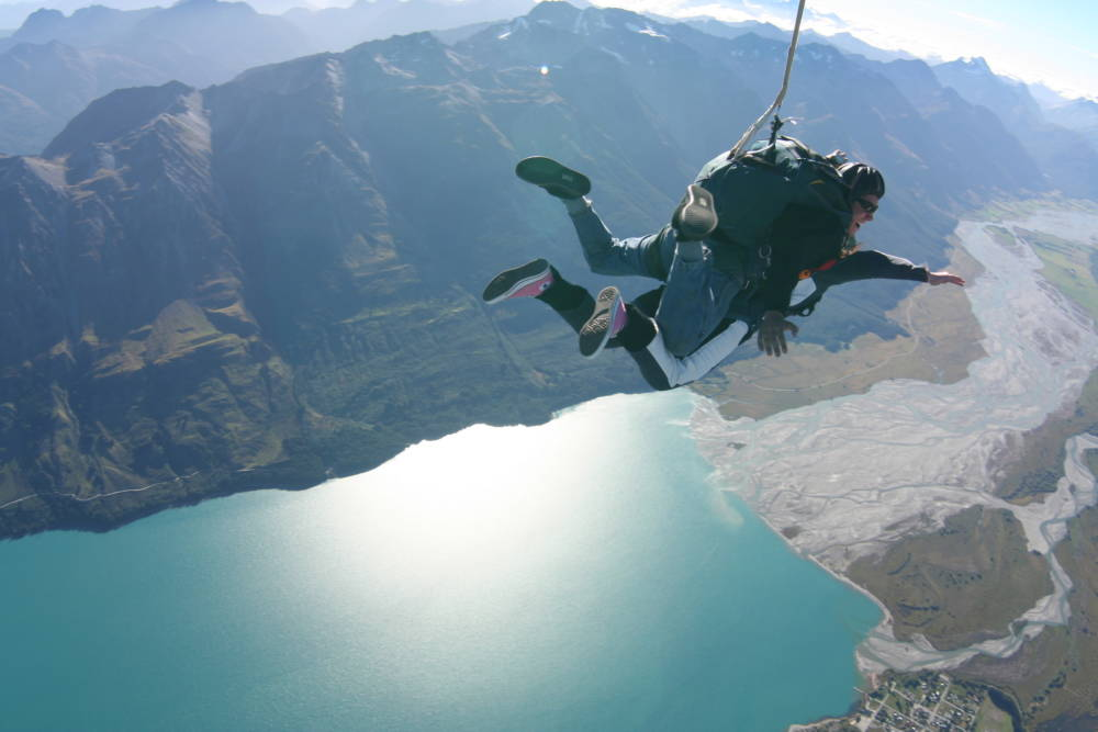 Skydiving in Neuseeland