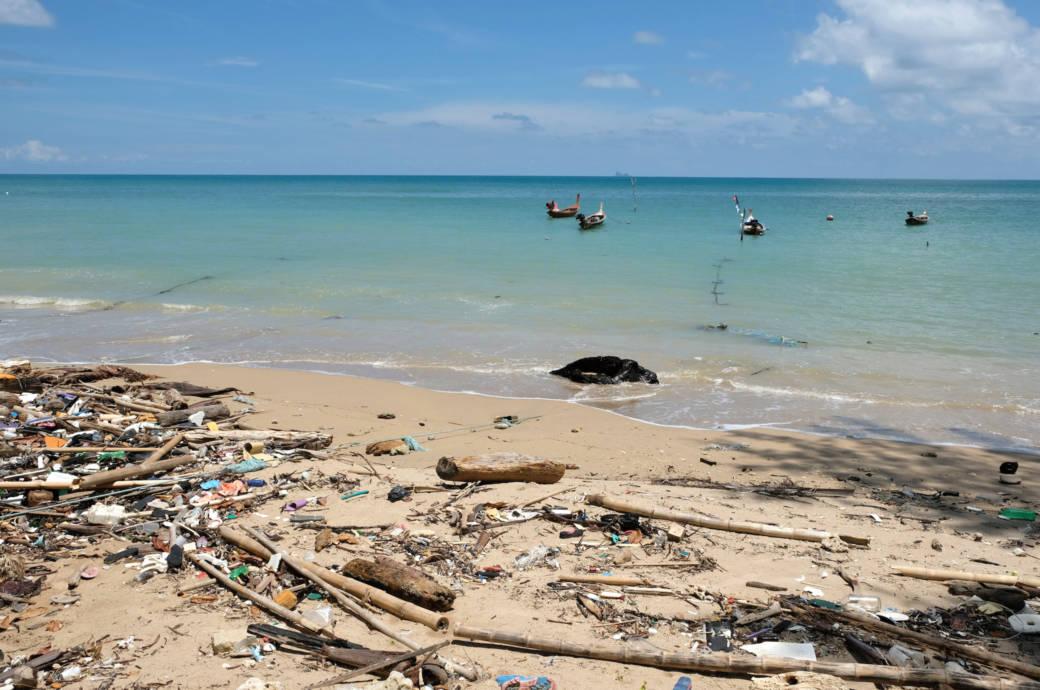 Müll Strand Thailand