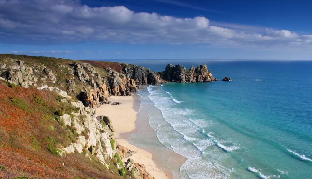 Porthcurno in Cornwall, Großbritannien