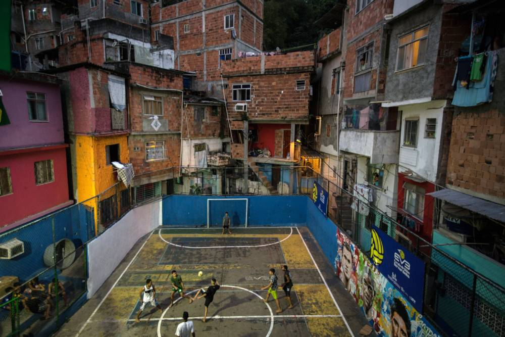 Favela Tavares Bastos in Rio de Janeiro, Brasilien