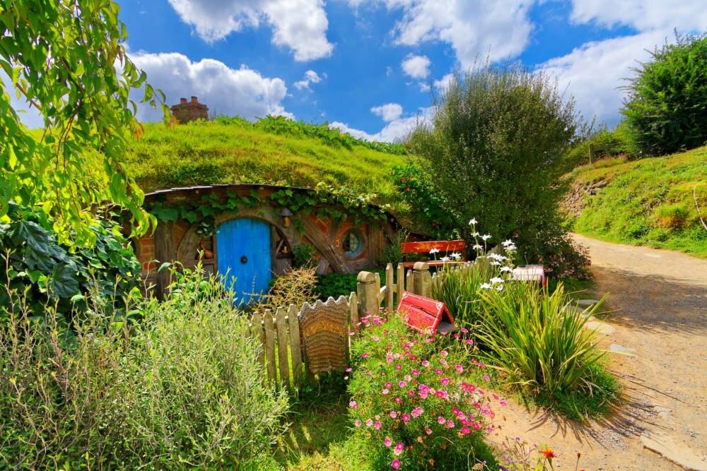 Hobbiton Film Set in Matamata, Neuseeland