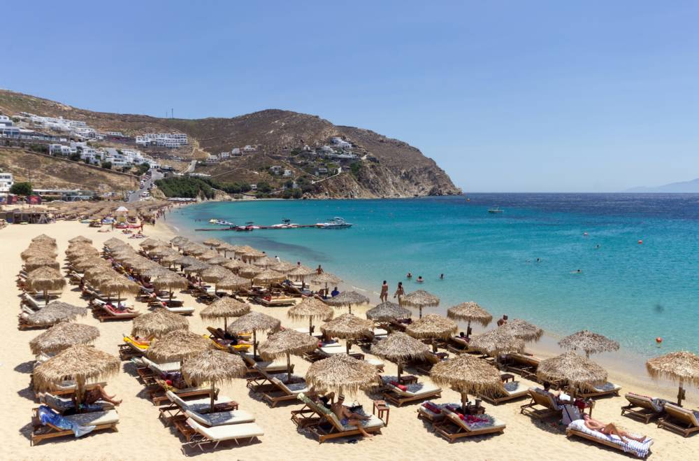Elia Beach, Mykonos, Griechenland