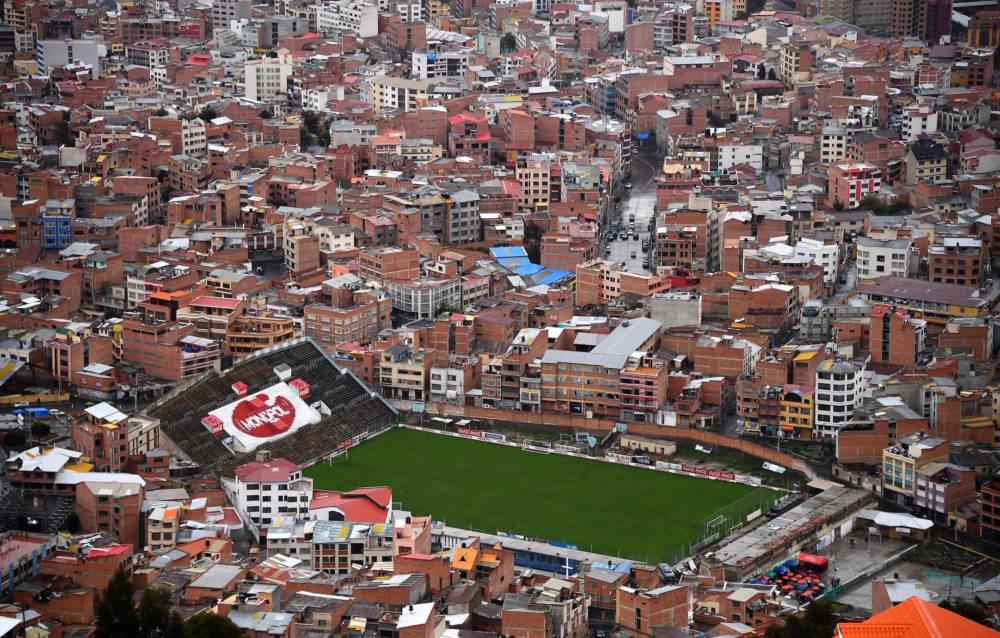 Das Stadion Libertador Simón Bolívar in La Paz in Bolivien