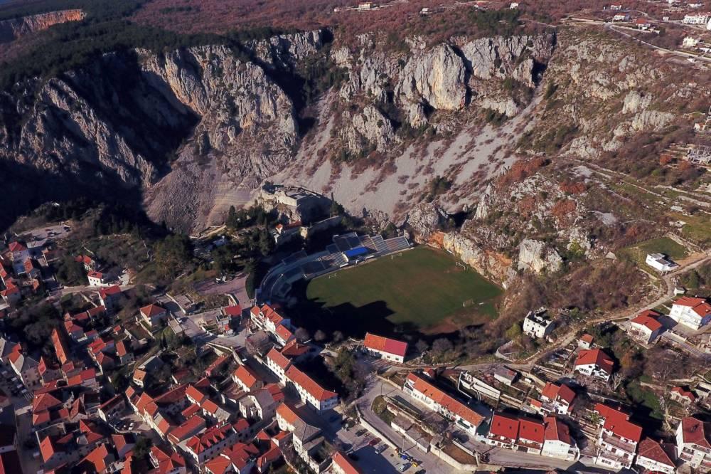Gospin Dolac Stadion in Imotski, Kroatien