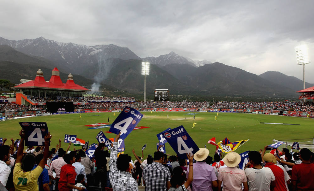 Himachal Pradesh Cricket Association Stadion in Dharamsala, Indien