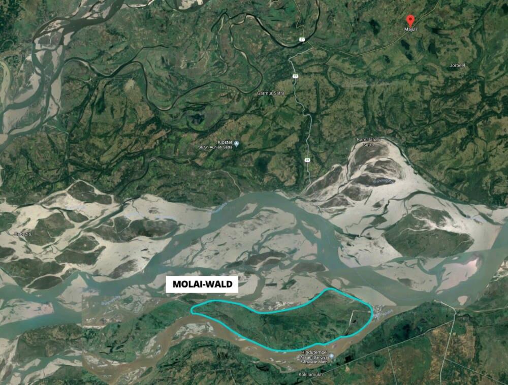 Molai-Wald und Majuli in Indien