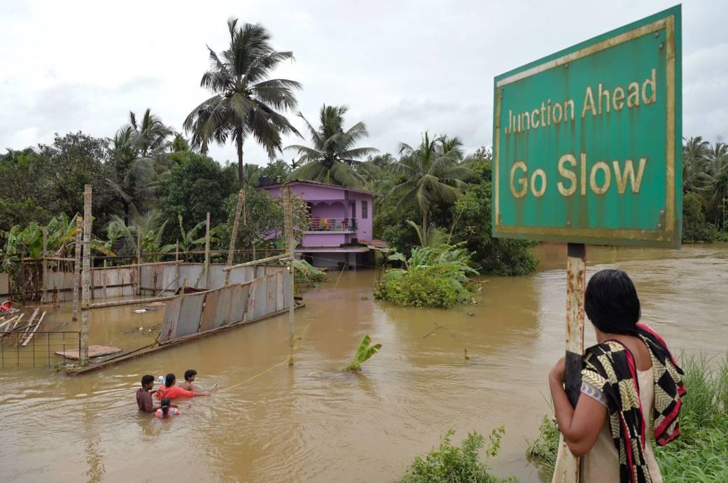 Überflutungen in Kerala, Indien