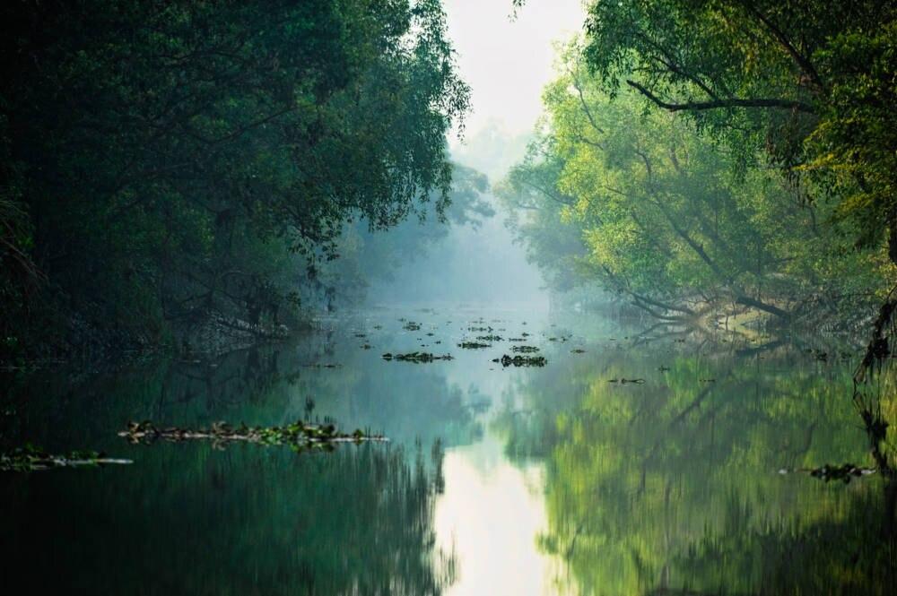 Ein Fluss im Südwesten von Bangladesch