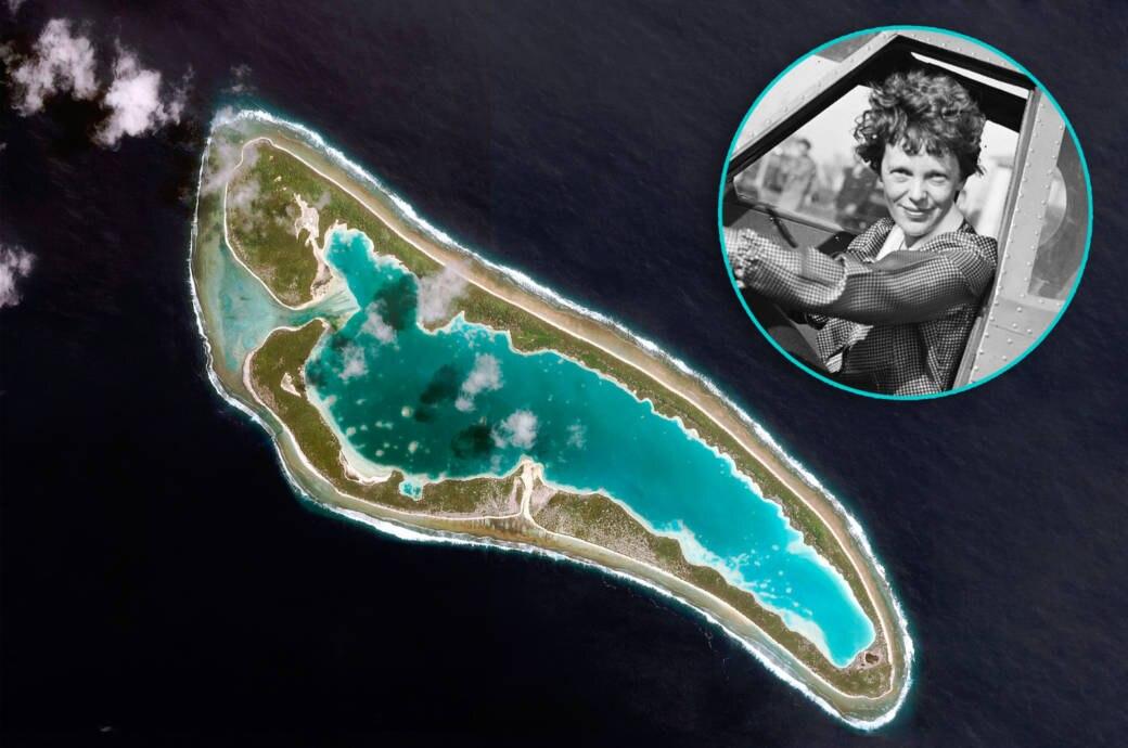 Kämpfte Amelia Earhart auf dieser einsamen Insel ums Überleben?