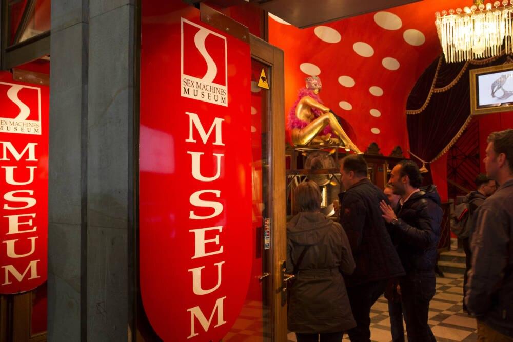 Eingang zum Sex Machines Museum in Prag