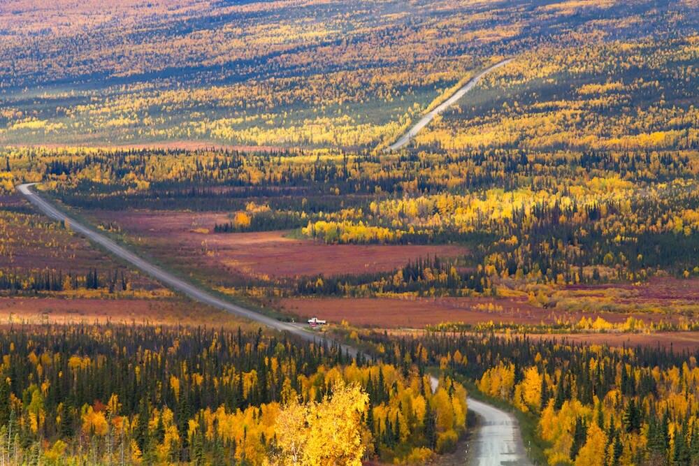 Dalton Highway im Herbst