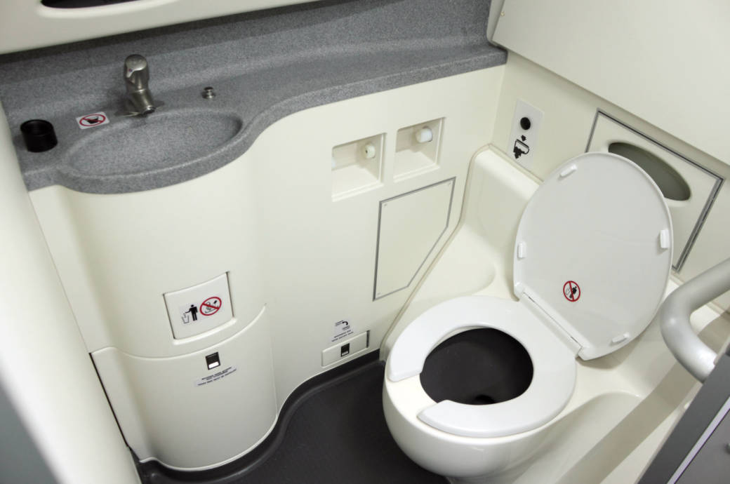 Toilette Flugzeug