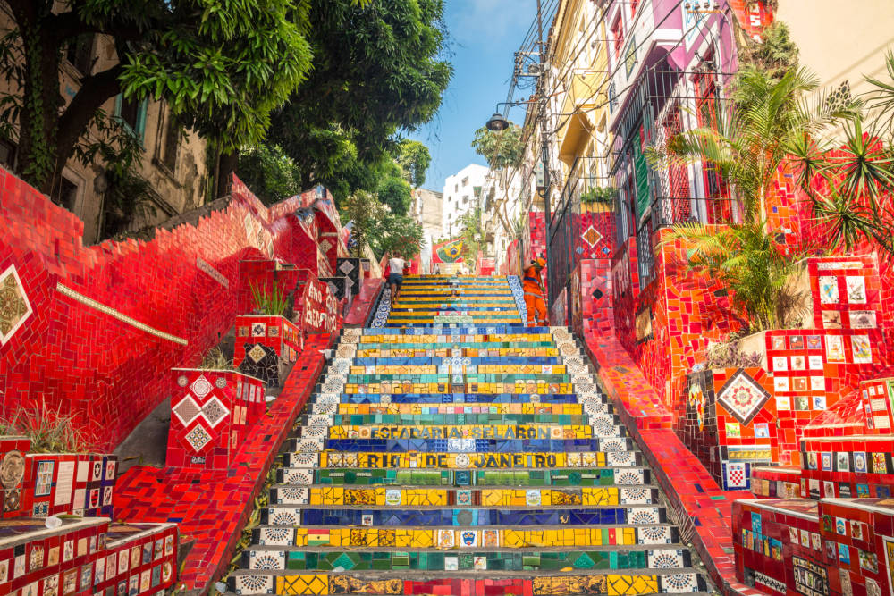 Die farbenfrohen Selaron Treppen in Rio de Janeiro