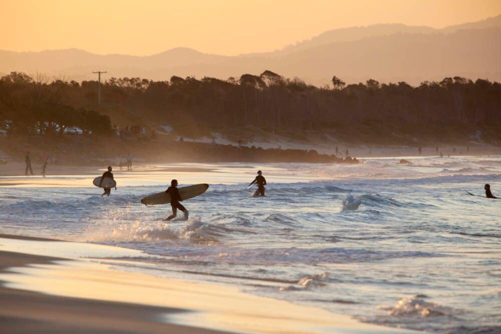 Surfer Main Beach, Byron Bay