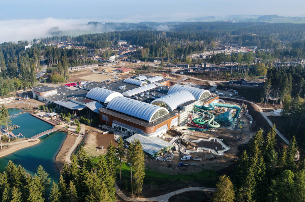 Die neue Center-Parcs-Anlage im Allgäu
