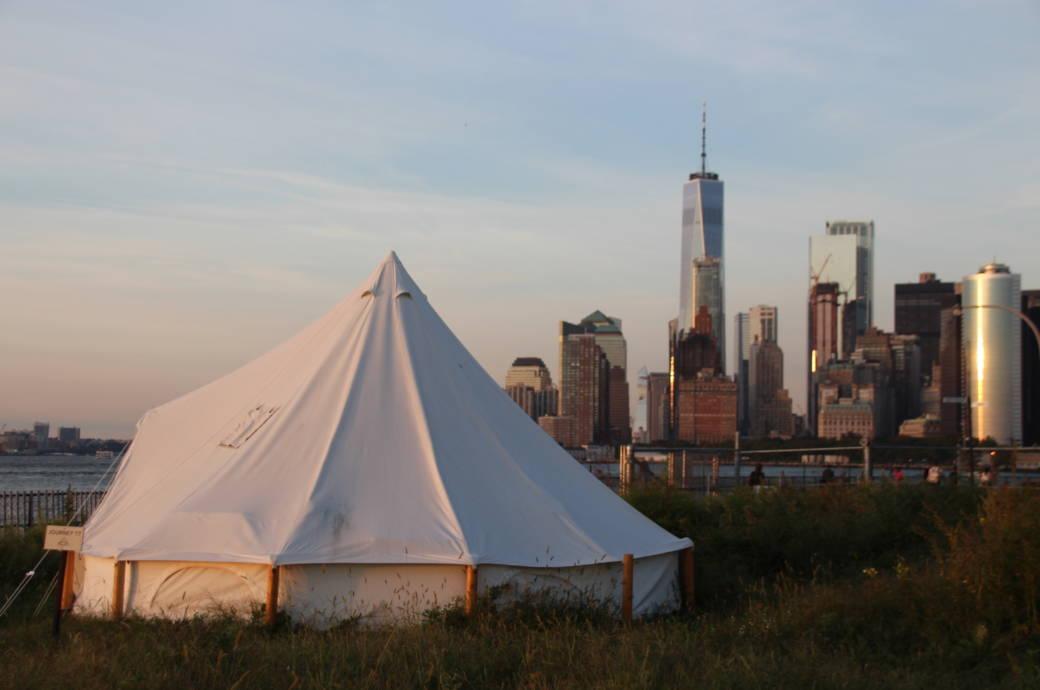 """Glamping"" mit Blick auf New York"