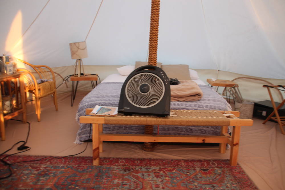 Ausstattung eines Glamping-Zeltes