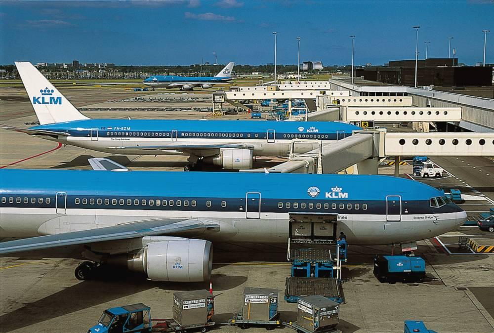 KLM-Maschine in Amsterdam Schiphol