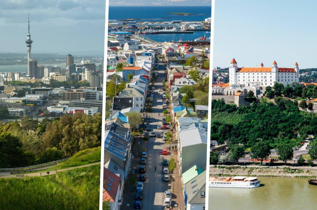 Raykjavik, Auckland und Bratislava im Green City Index