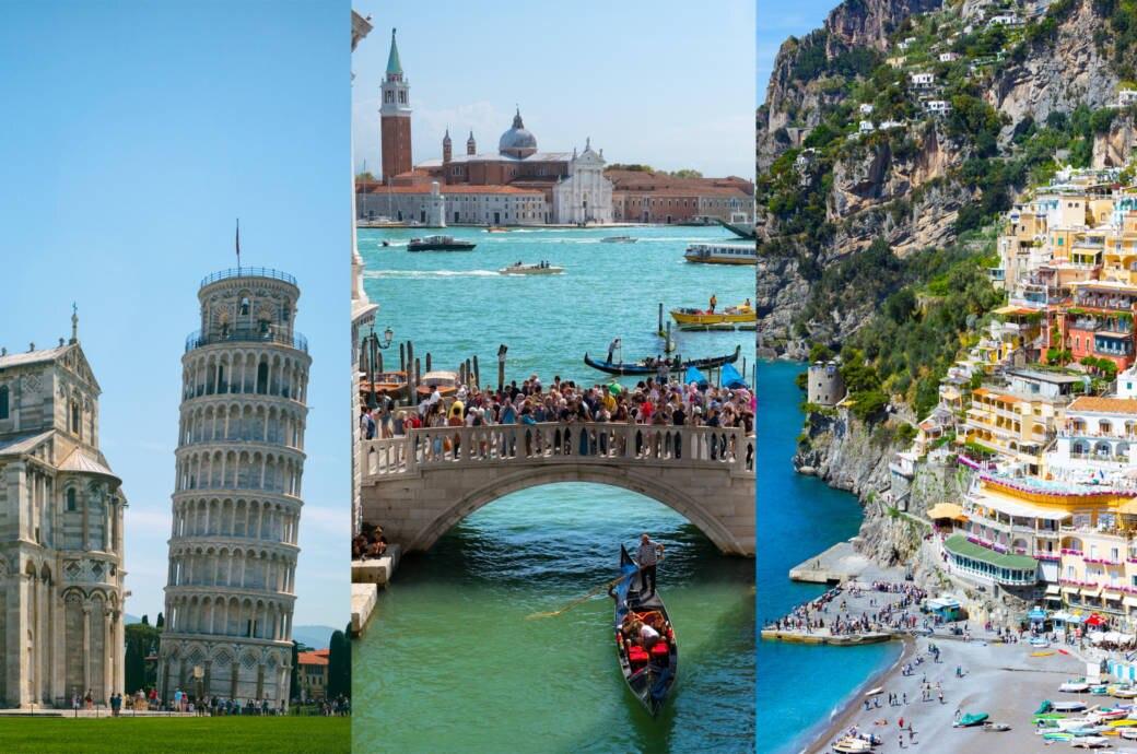 Pisa, Venedig und Amalfiküste