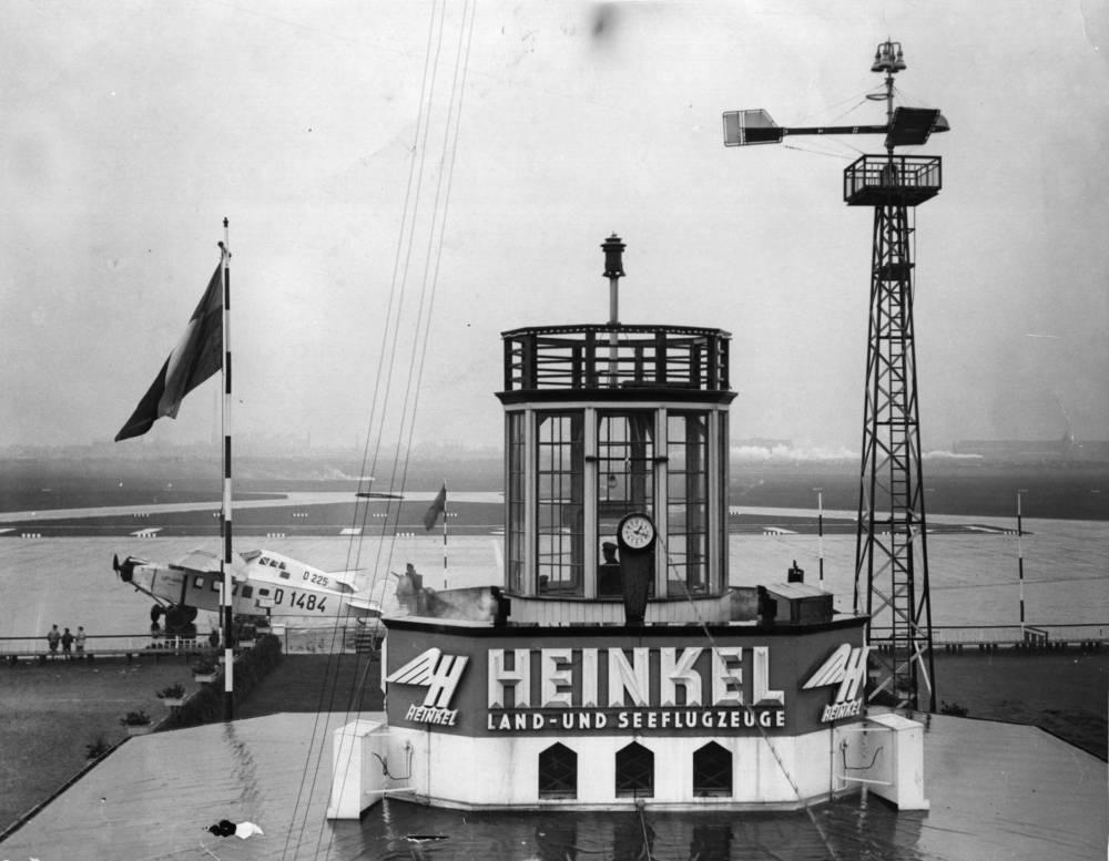 Historische Aufnahme vom Flughafen Tempelhof