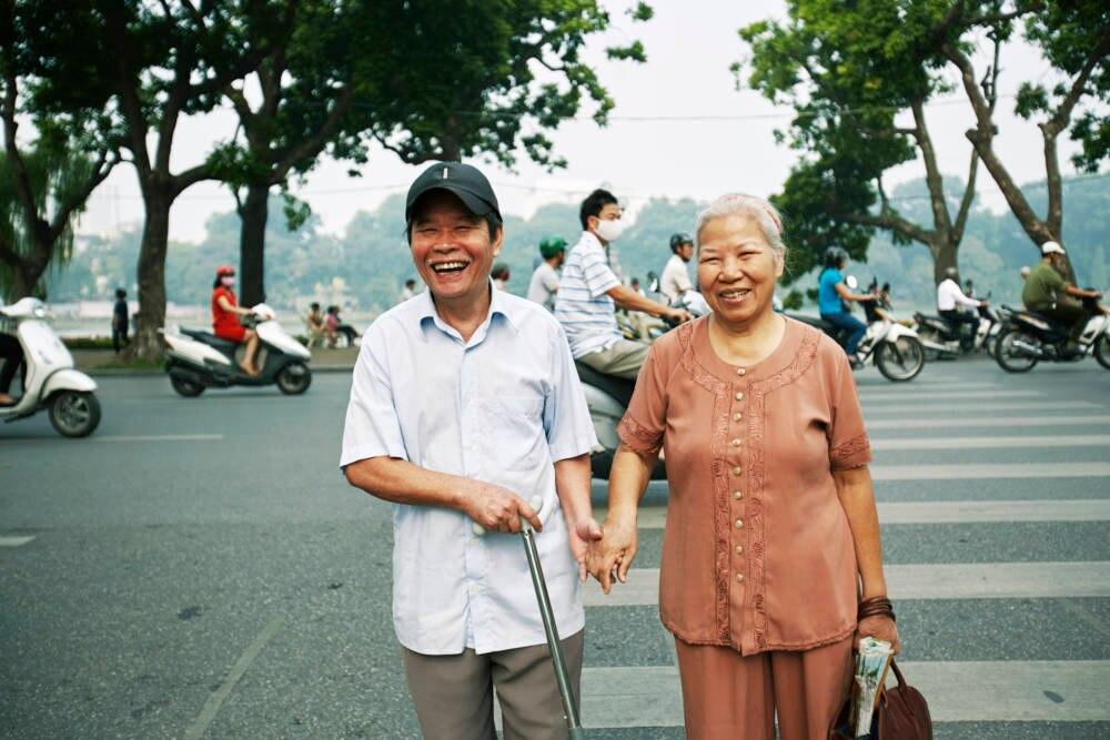 Älteres Paar in Vietnam