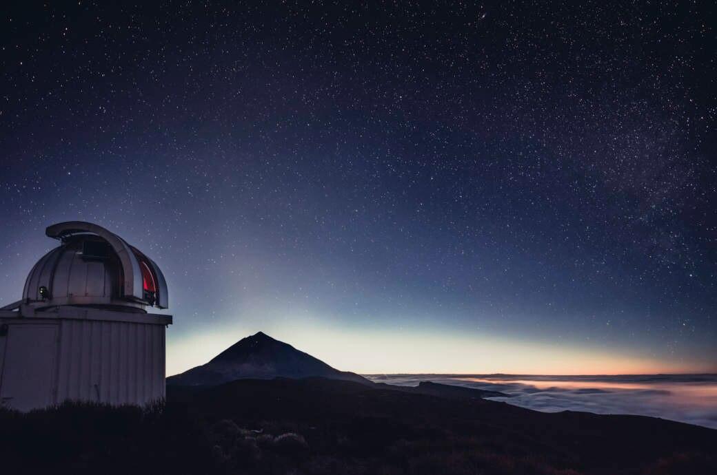 Der Nachthimmel über Teneriffa ist auch ohne Profi-Teleskop beeindruckend