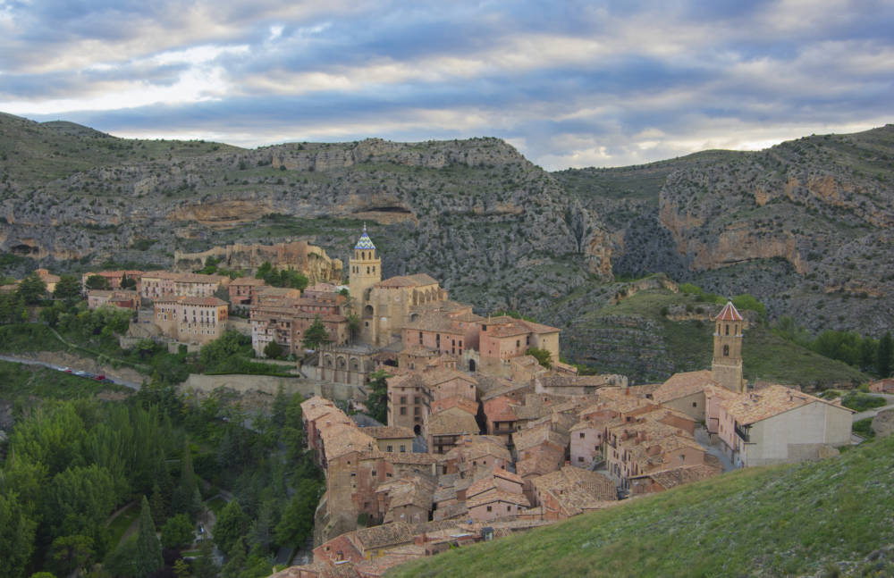 Albarracín in Aragon in Spanien