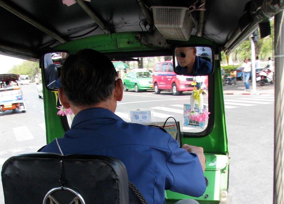 Der Tuk-Tuk-Fahrer, der an dem Betrug beteiligt war