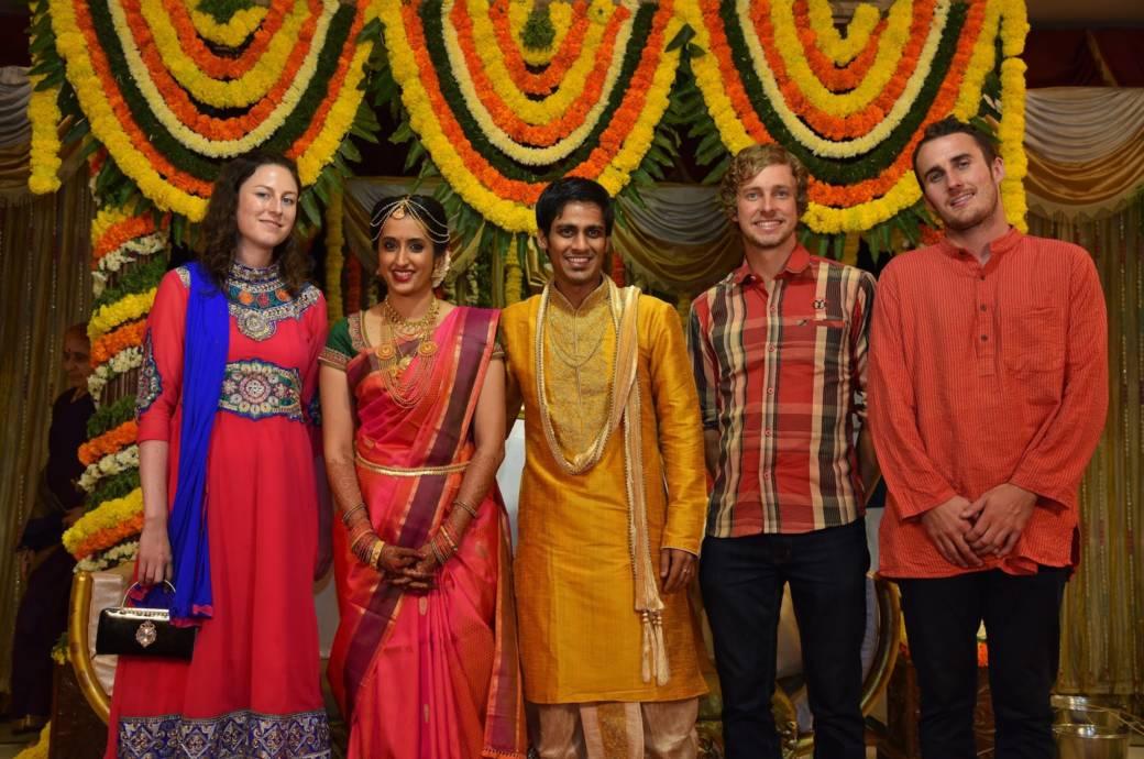 Hindu Hochzeit mit Touristen