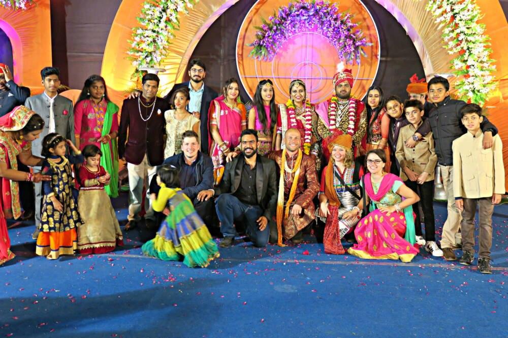 Indische Hochzeit mit Touristen