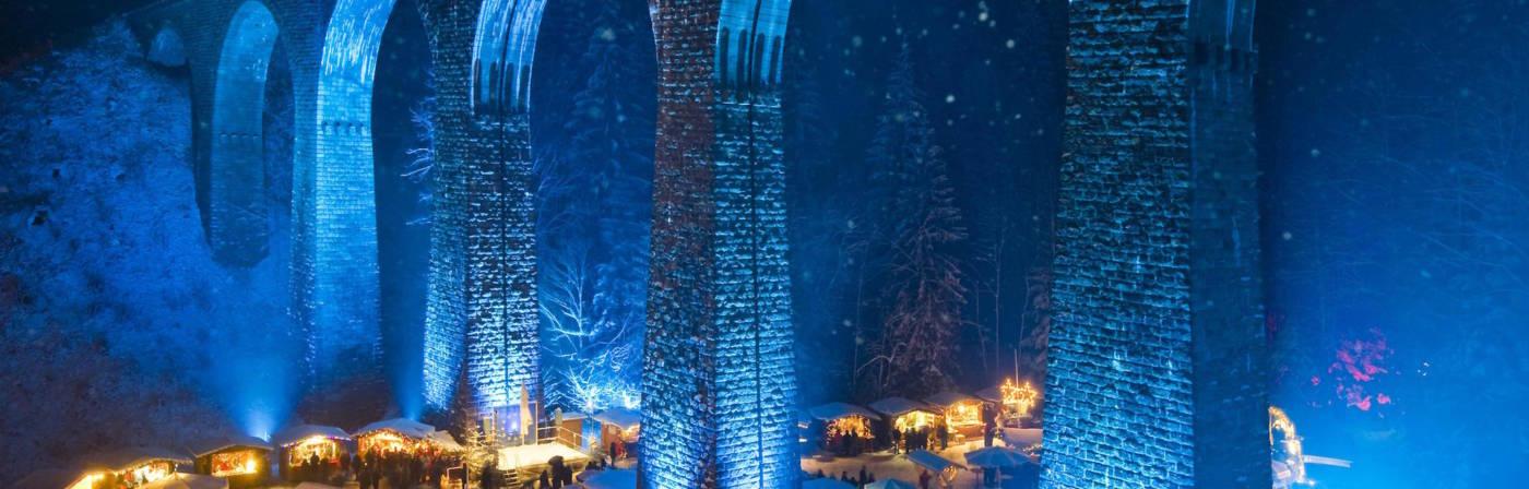 Weihnachtsmarkt, Ravennaschlucht, Höllental bei Freiburg im Breisgau