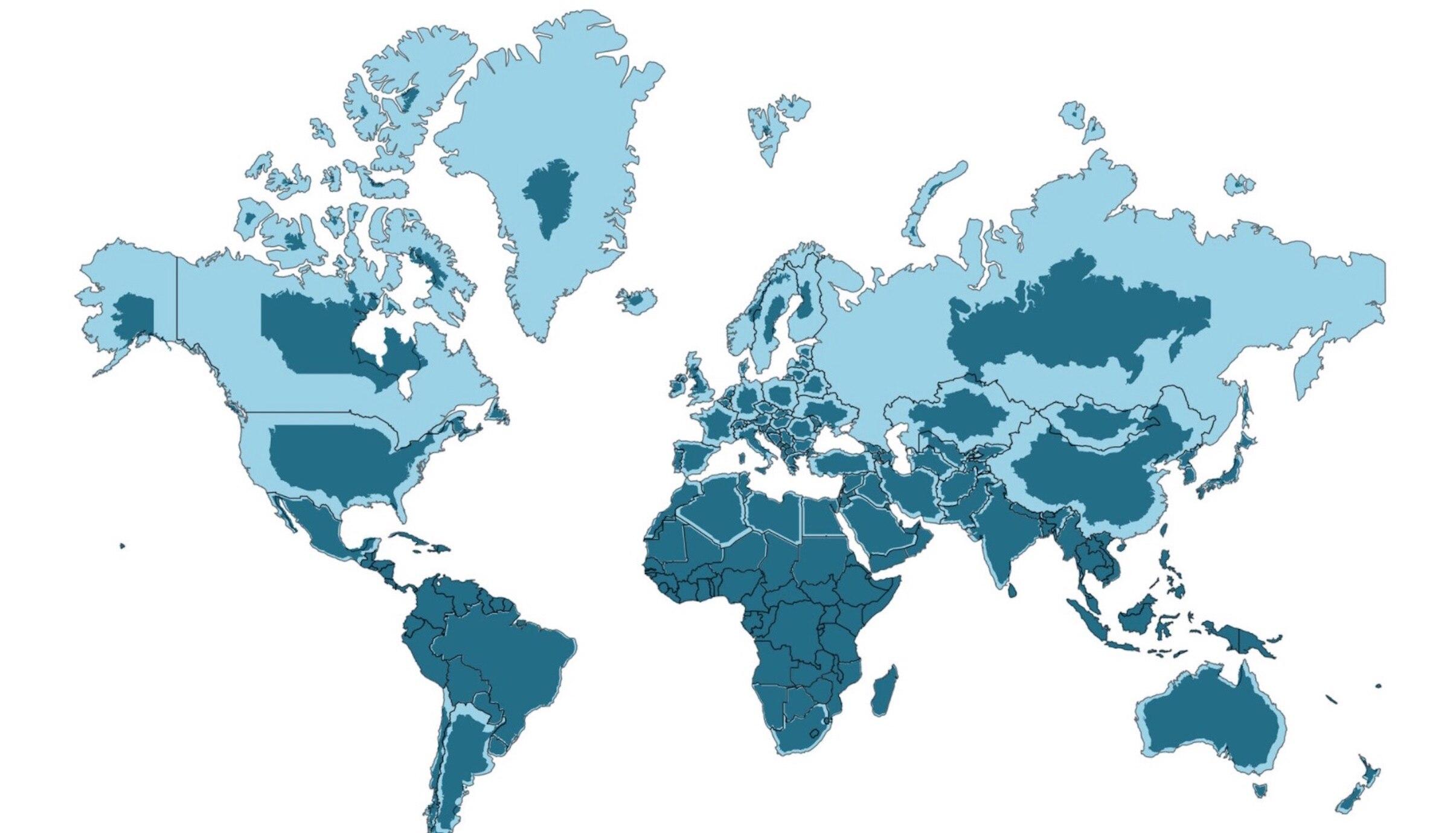 Flache Erde Karte Kaufen.Animierte Weltkarte Zeigt So Gross Sind Lander Wirklich