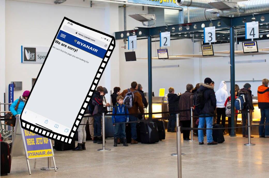 Online-Check-in auf Ryanair-Webseite nicht möglich