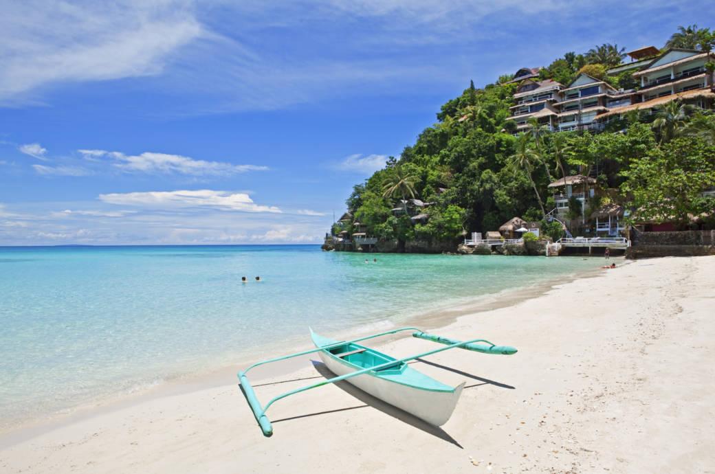 Diniwid Beach auf Boracay, Phillipines