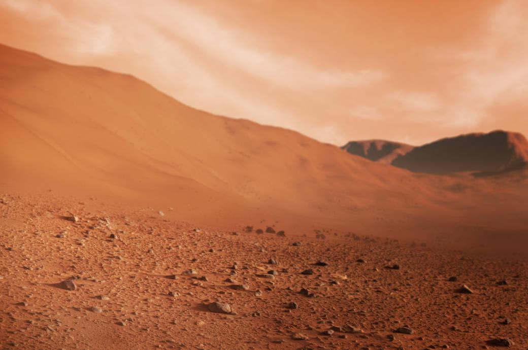 So ähnlich sieht die Oberfläche des Mars aus – eine rote Wüste, die absolut lebensfeindlich für den Menschen ist (Symbolbild)