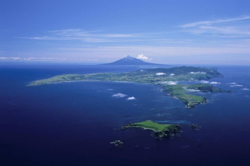 Insel vor Hokkaidō, Japan, verschwunden
