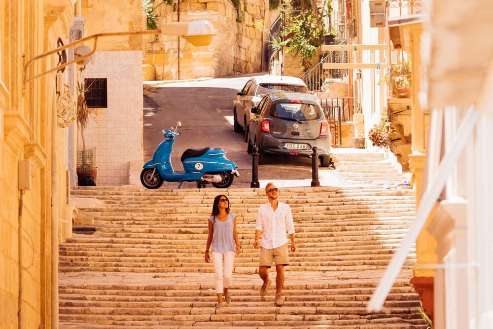 Malerisch: Ein Spaziergang durch die Straßen Vallettas