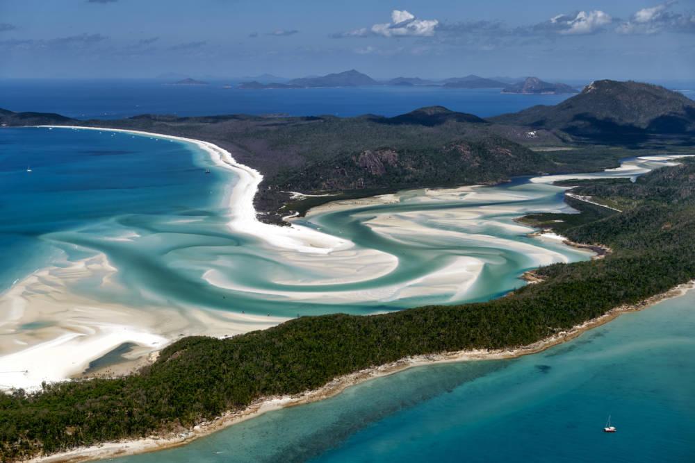 Whitehaven Beach in Queensland, Australien