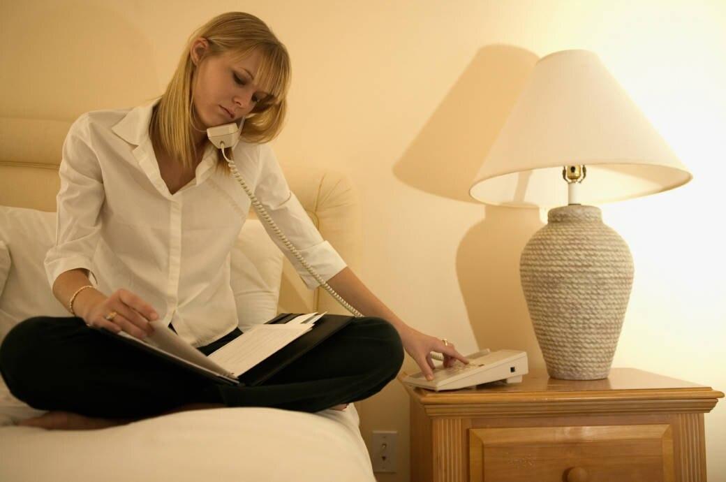 Hotelzimmer Telefonieren